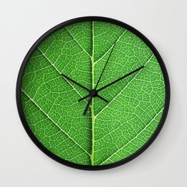 Green Vein Life Wall Clock