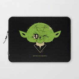 StarWars May the Force be with you (green vers.) Laptop Sleeve