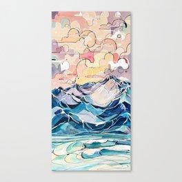 Sunrise, Surf, and Ridgelines Canvas Print