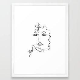 Picasso's Mistress  Framed Art Print
