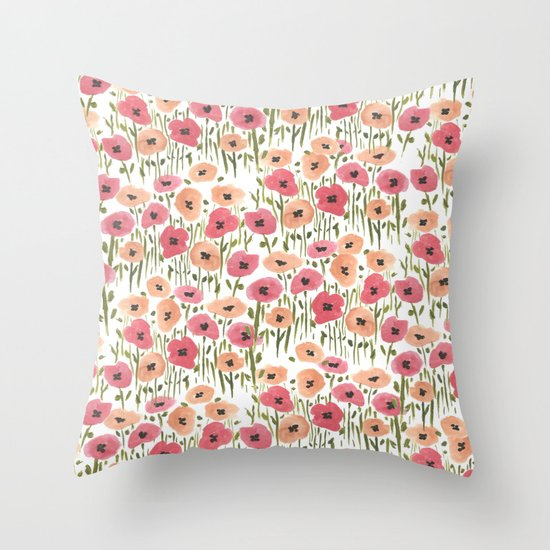 Garden Print Throw Pillow