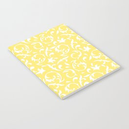 Figurative Pattern in Yellow and White Notebook