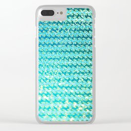 Mermaid Waves and Sea Foam, Sun Light over the Ocean Clear iPhone Case