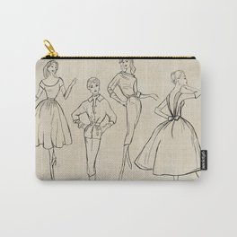 Vintage Fashion Sketches Carry-All Pouch