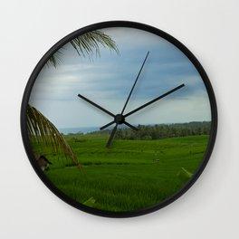 Ricefields near Ubud Wall Clock