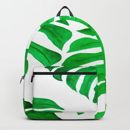 green leaves art print Backpack