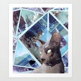 Nude Cat Art Print