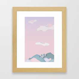Egg Clouds Framed Art Print
