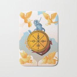 tarot card fortune wheel Bath Mat
