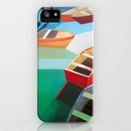 Five Boats iPhone Case