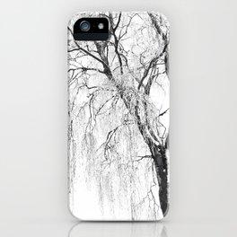 White snow tree iPhone Case