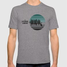 The Upside Down Tri-Grey MEDIUM Mens Fitted Tee