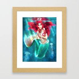 Mermaid underwater Framed Art Print