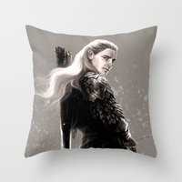 archer Throw Pillows featuring the archer by evankart