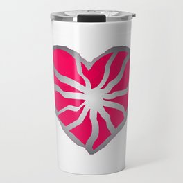Broken Heart Fuchsia Travel Mug