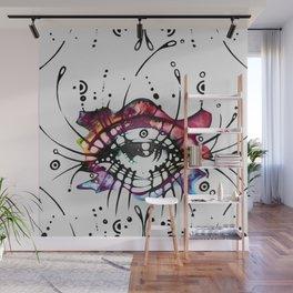 """Pop Art Eyelashes"" Wall Mural"