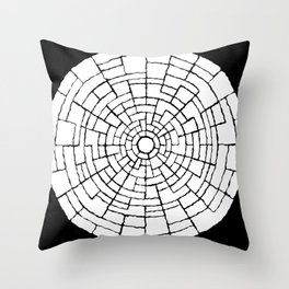 Inverted Cicle Wall Throw Pillow