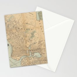 Beautiful 1888 Vintage Map of Oakland, California Stationery Cards