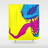 venom Shower Curtains featuring Venom. by Hussein Ibrahim