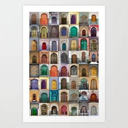 Moorish Doors Montage Art Print
