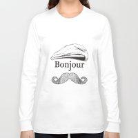 bonjour Long Sleeve T-shirts featuring Bonjour by Jacob Waites