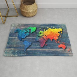 World map special 8 Rug