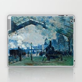 Claude Monet - Arrival Of The Normandy Train, Gare Saint Lazare Laptop & iPad Skin