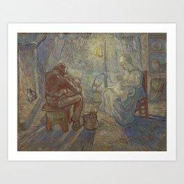 Vincent Van Gogh - Night after Millet Art Print