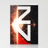 n7 Stationery Cards featuring Mass Effect N7 by Anthony.Ch