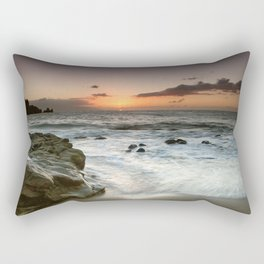 Sunset Over the Rocks Rectangular Pillow