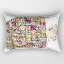 sleeping child Rectangular Pillow