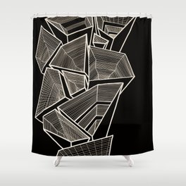 Pockets - Inverted Gold Shower Curtain