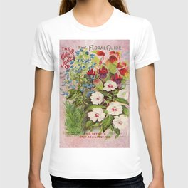 Vintage Flowers Advertisement Collage T-shirt