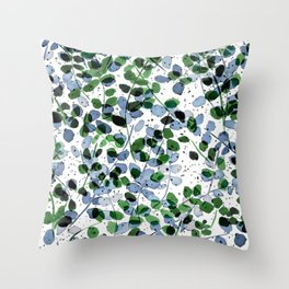 Synergy Blue and Green Throw Pillow