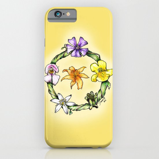 Garland of flowers iPhone & iPod Case