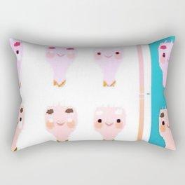 Portrait of a Nerd Rectangular Pillow