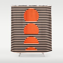 Abstraction_SUNSET_LINE_ART_Minimalism_001 Shower Curtain