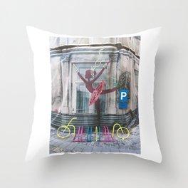 URBAN BALLERINA Throw Pillow