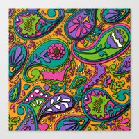paisley Canvas Prints featuring Paisley by Shelly Bremmer