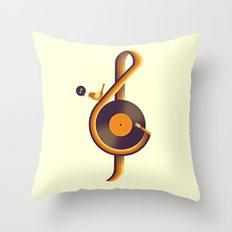 Retro Sound Throw Pillow