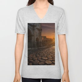 Arch of Constantine, Rome, Italy Unisex V-Neck