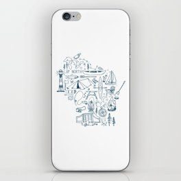 Wisconsin Up North Collage iPhone Skin
