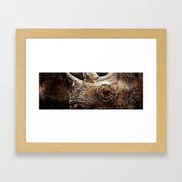 Black Rhinoceros Framed Art Print