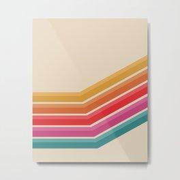 Retro Pattern - Steep Uphill #639 Metal Print