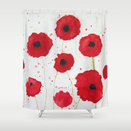 Poppies II Shower Curtain