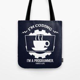 Programmer - I am coding Tote Bag