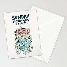 Sunday mornings be like Stationery Cards