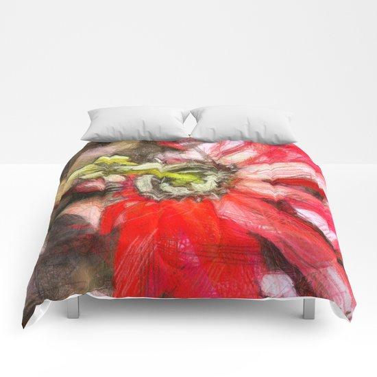 Popy variation 6th - pencil Comforters