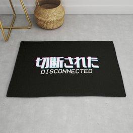 Disconnected - Vaporwave Japanese Text Gamer Gift Rug