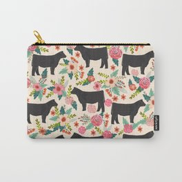 Show Steer cattle breed floral animal cow pattern cows florals farm gifts Carry-All Pouch